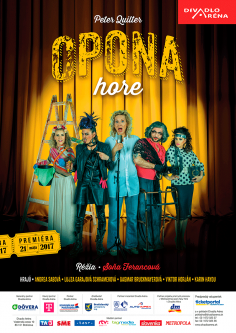 """Poster<br>Divadlo Aréna<br>""""Opona hore"""""""