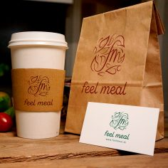 "Logotyp <br>""Feel meal"""