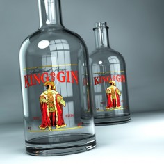 "Etiketa ""King of Gin"""