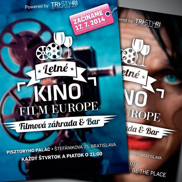 Letné kino Film Europe<br>Letáky a mailing