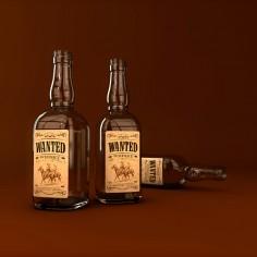 Etiekta &#8220;Wanted whisky&#8221;<br>(nerealizované)