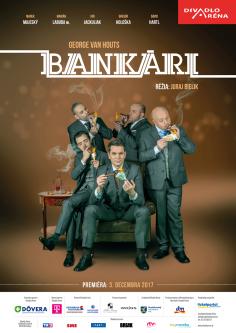 "Poster <br>Divadlo Aréna <br> ""Bankári"""
