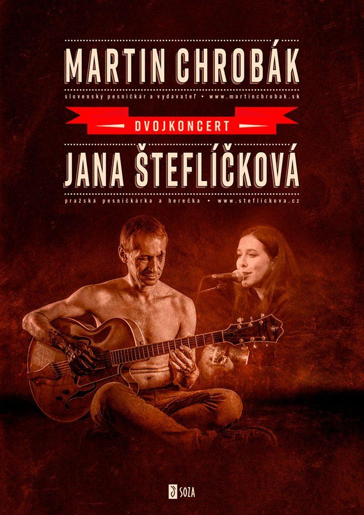 """Koncertný poster <br>""""Chrobák & Šteflíčková"""""""
