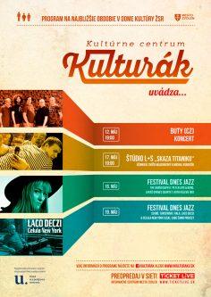 """Poster <br>""""Kulturák Zvolen"""""""
