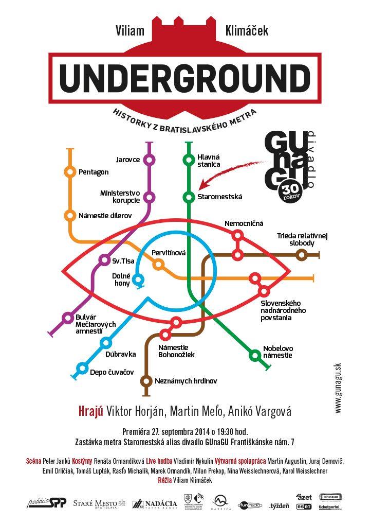 """Poster<br>GUnaGU """"Underground"""""""