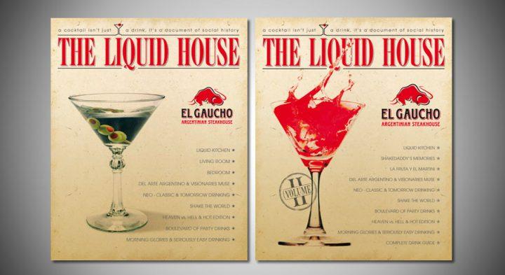 """Nápojový lístok steakhousu """"El Gaucho"""""""