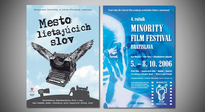 """Poster k filmu """"Mesto lietajúcich slov""""<br>& """"4. Minority Film Festival"""""""